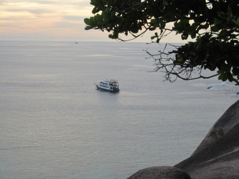 The boat from the Island. Similan Islands