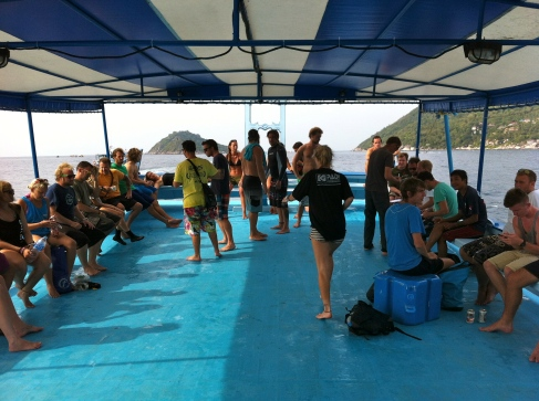 Getting ready for the world record. Koh Tao, Thailand