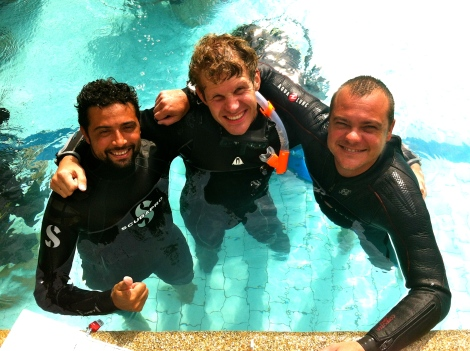 PADI Staff Instructor course. Koh Tao. Thailand