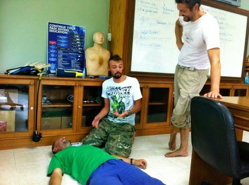 Emergency First Responder Course. Koh Tao, Thailand