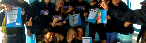 Success on the IE, New PADI Diving Instructors!