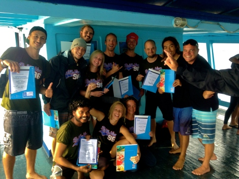 Successful on the IE, New PADI Diving Instructors!