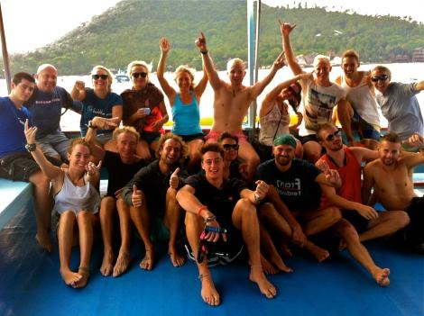 PADI Dive Master training, Koh Tao, Thailand