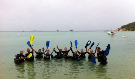 Marine Conservation dive with the Dive Master in Training