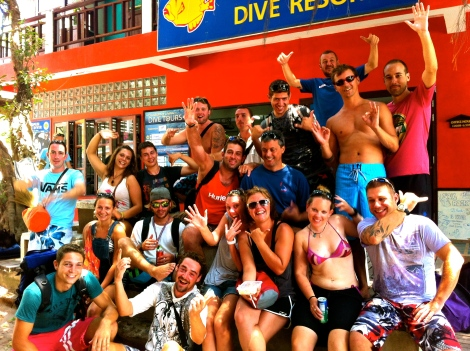 Dive Masters in Training. Perfect Internship program. Koh Tao