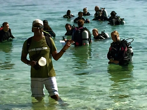Open Water presentation and Evaluation. PADI CDTC