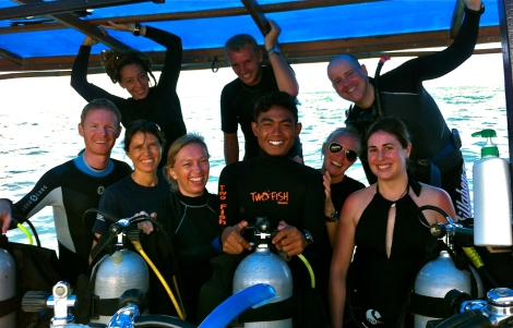 IDC Candidates Bunaken, Indonesia, Two Fish Divers
